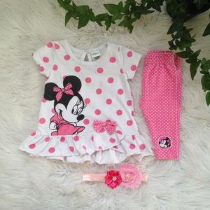 5/$25🎀 Disney Minnie Mouse set